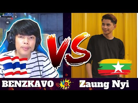 BENZKAVO VS Zaung Nyi NEW PUBG MOBILE FIGHT