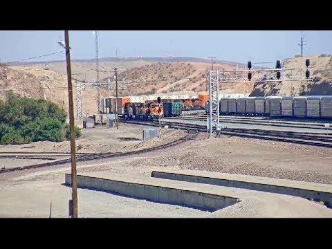 Barstow, California USA - Virtual Railfan LIVE