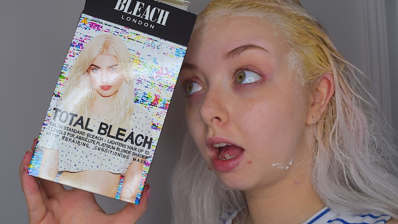 Bleaching My Hair With The Bleach London Bleaching Kit Youtube