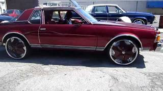 "78 CAPRICE ON 24""  DUB VOODOO SPLOADERS RIDING"