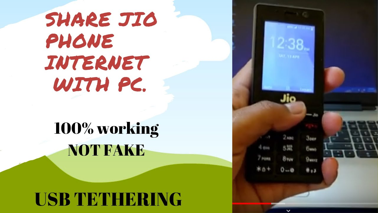 How To Use Usb Tethering In Jio Phone Share Jiophone Internet With Pc Or Computer Kkworld In Cute766