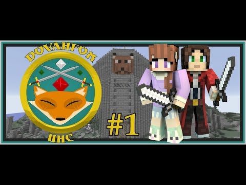 Dovahfox UHC 2 | Fade's POV # 1 | Team Faux Bunnies! | Minecraft 1.12