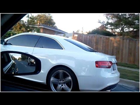 Audi S5 BRUTAL EXHAUST SOUND(MUST HEAR!!!)