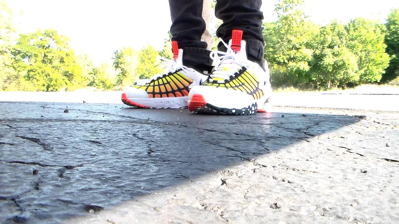 a47abbe3cceaee On Foot  Nike Air Max 120 Hyper Orange White Black - YouTube
