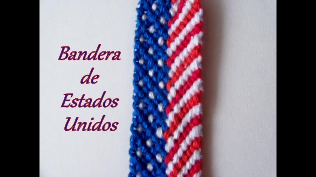 a26521fa54ef Pulsera de Hilo: Bandera de Estados Unidos