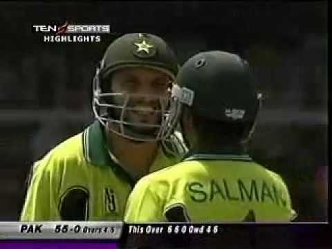 Shahid Afridi 100 on 36 balls Against India == Fastest Hundred