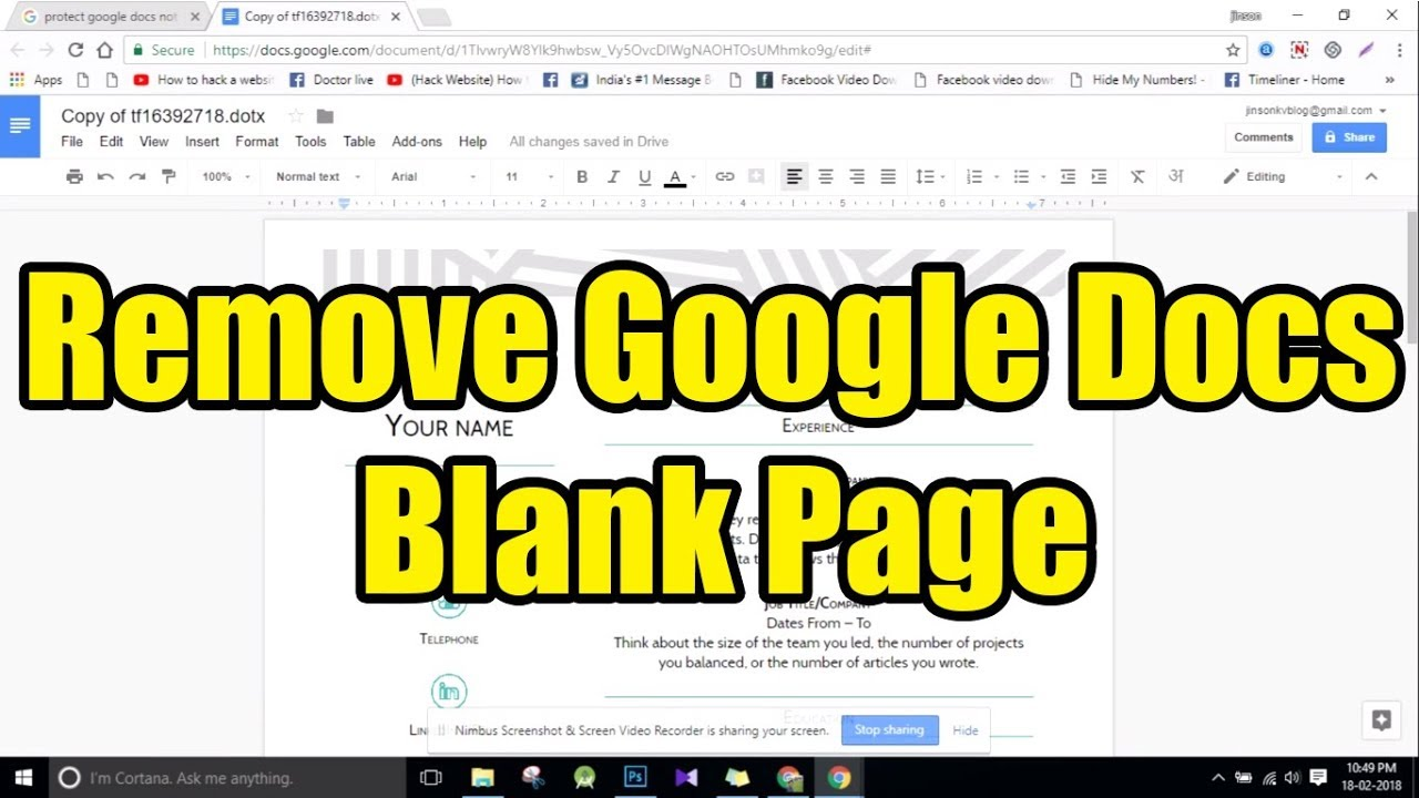 Delete Last Blank Page In Google Docs Solve This Blank Page Bug Yourself Youtube If you want to delete unwanted pages in google docs, you should try deleting the content, adjusting the page margins, or deleting any pagebreaks. delete last blank page in google docs solve this blank page bug yourself