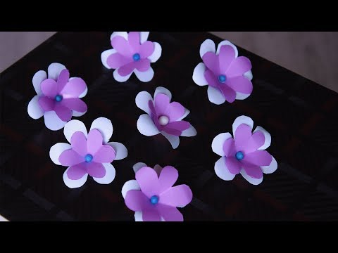 Double Layer Paper Flower Making | How To Make Paper Flower | DIY Paper Craft