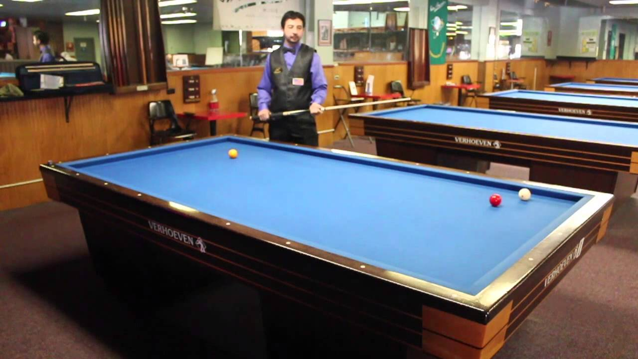 basic 3 cushion billiards shots by pedro piedrabuena [ 1280 x 720 Pixel ]