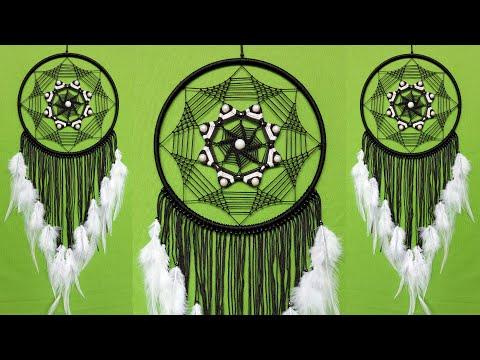 diy-macrame-wall-hanging-dream-catcher-|-wall-hanging-craft-ideas-home-decor-|-handmade-craft-ideas
