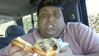 Carl's Jr. Hillshire Farm® Smoked Sausage Breakfast Sandwich Reviewed!