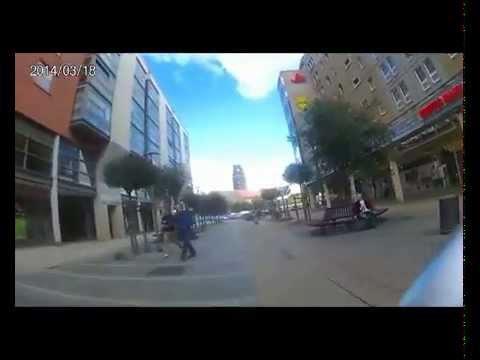 Fahrradrowdy Vol 1 Dresden Prager Strasse. Action Cam.