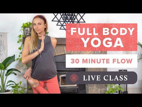 30 Min Full Body Yoga Class   Feel Good Yoga Flow - Live w/Juliana Spicoluk