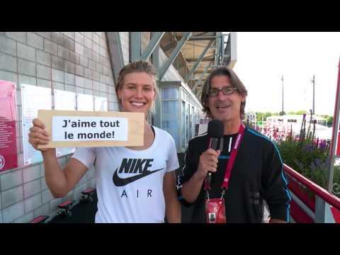 Jean-René Dufort donne des conseils à Eugenie Bouchard