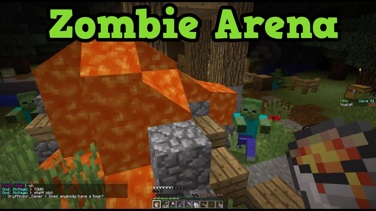 Minecraft ZOMBIES ARENA - Server Mini Game