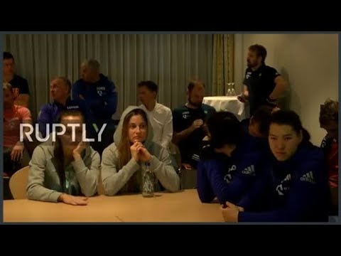LIVE:  Russian athletes react to IOC announcement on 2018 Winter Olympics
