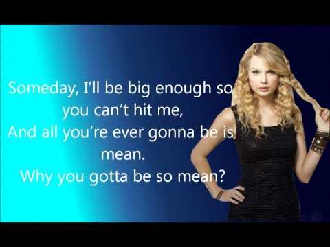 Taylor Swift - Mean + Lyrics
