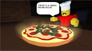 ROBLOX - Travaillez dans une pizzeria - Oeuf de Pâques serpent rouge géant! ✓