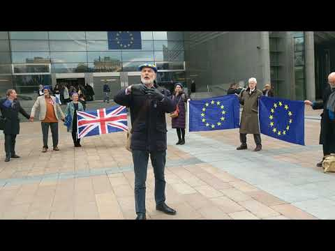 Bristol and Bath for Europe's message in front of the EU Parliment