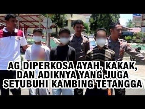 AG Diperkosa Bapak, Kakak Dan Adik Hingga Ratusan Kali, Pelaku YF Juga Setubuhi Kambing Tetangga