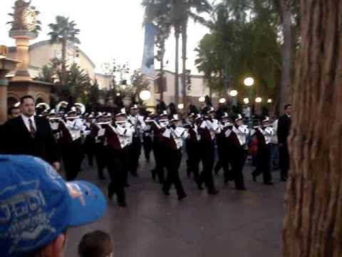 Bell Gardens High School Band In Disneyland Youtube