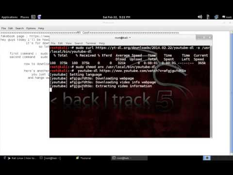 Kali Linux how to install youtube dl and download videos from youtube -  YouTube