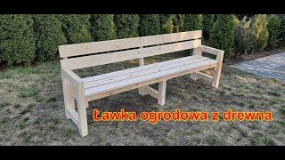 Ławka ogrodowa z drewna / Meble ogrodowe / Ławka drewniana / Zrób to sam / Wooden garden bench - DIY
