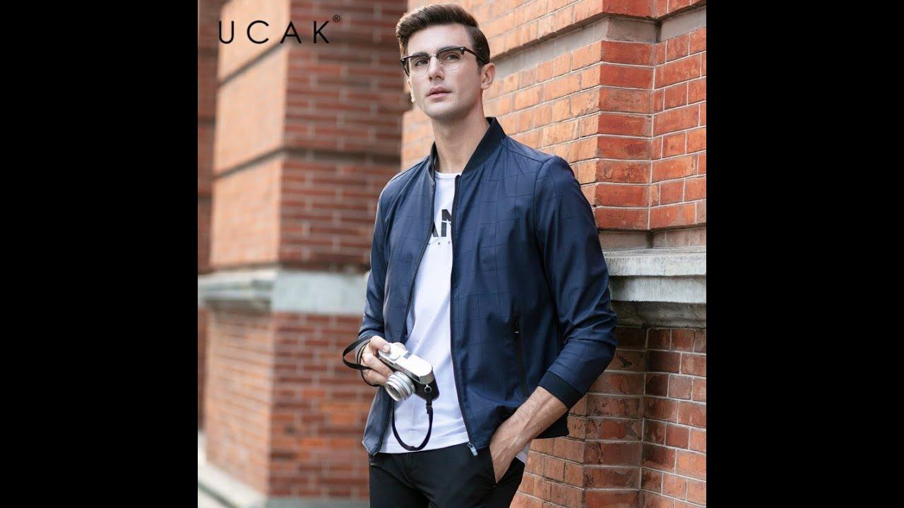 Мужские клетчатые куртки ucak, демисезонные повседневные пальто, уличная мода, u8048, 2020