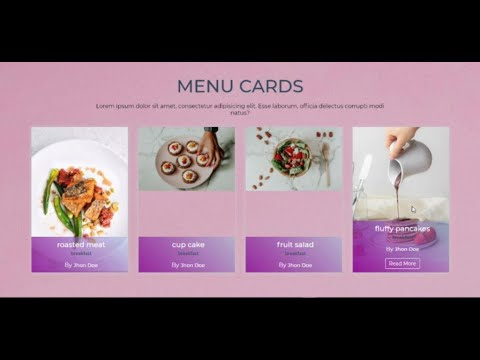 Responsive Menu Card Section Using CSS Grid | HTML/CSS3  For Restaurants Websites