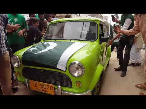 Mr.Beans at pakistan celebrating 14th agust independence Day