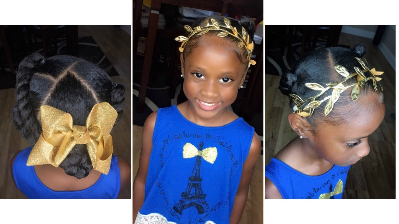 Faux Flat Twist W Ponytails Tutorial Kids Natural Hairstyle