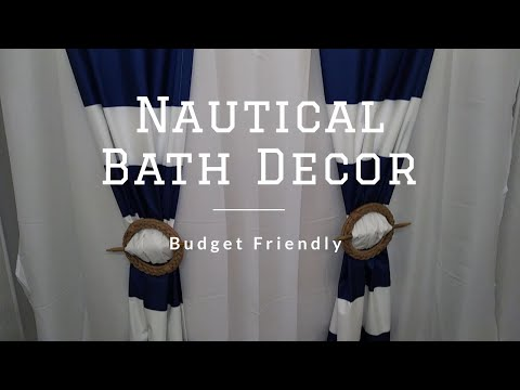 DIY NAUTICAL BATHROOM DECOR ~ BUDGET FRIENDLY ~ LESS THAN $80