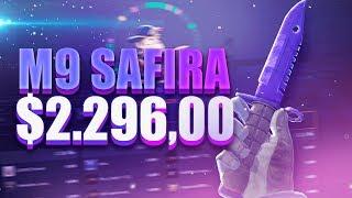CSGO - GANHANDO M9 SAFIRA ($2296)
