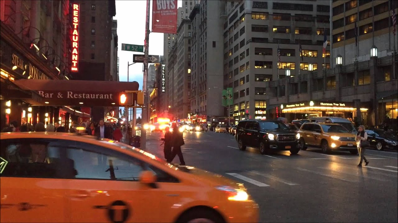 New York Presbyterian Hospital EMS Ambulance Responding In Midtown Manhattan