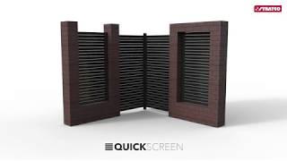 Stratco QuickScreen Pedestrian Gate Install