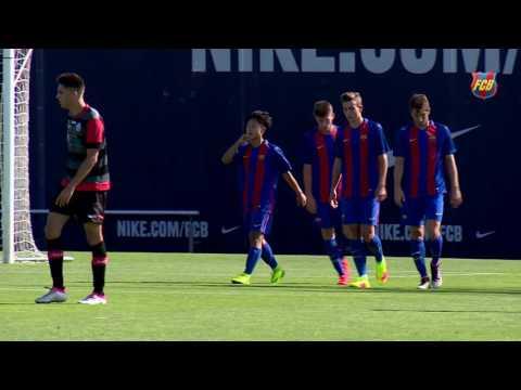 [HIGHLIGHTS] FUTBOL (friendly): FC Barcelona B - Santfeliuenc (2-0)