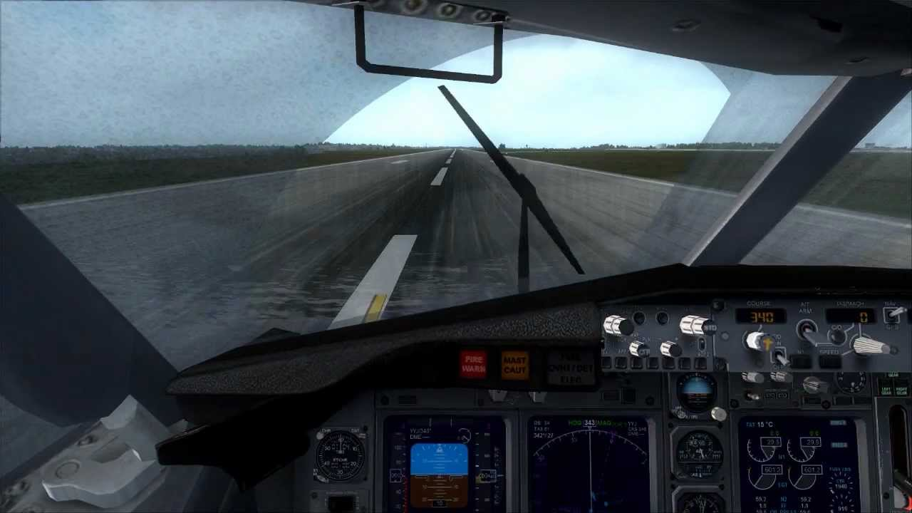 Fsx 737 800 Crosswind Landing In Seattle Tacoma Hd Youtube