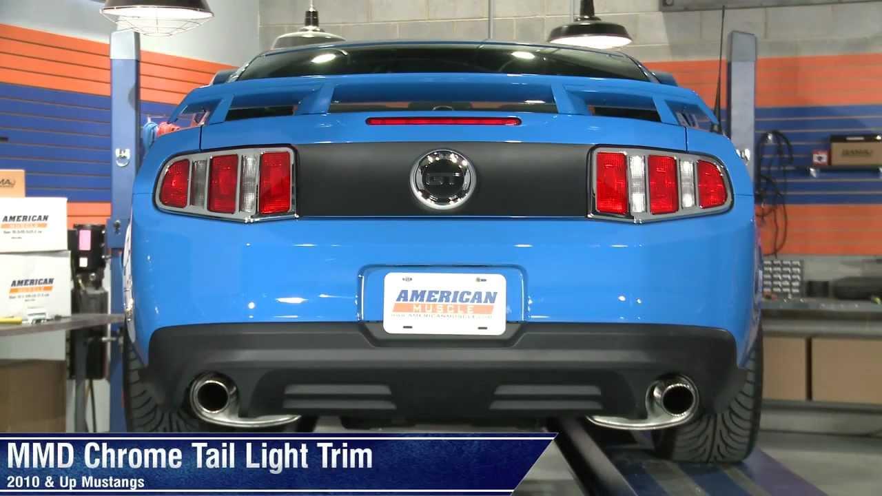 Mmd Mustang Matte Black Tail Light Trim 41273 10 12 All