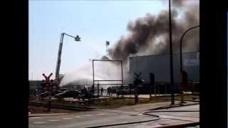 Brandweer Antwerpen - Industriebrand Schenkeldijk Haven 2-4-2013