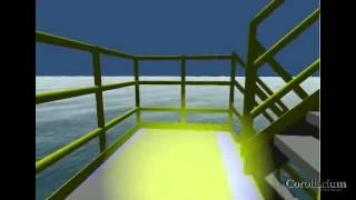 Virtuactor: Real time 3D simulation of an oil platform