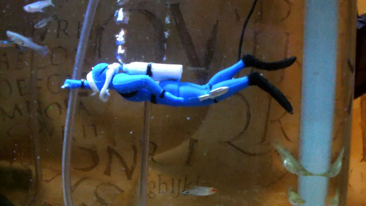 blue aquarium air diver ornament aerator ebay youtube