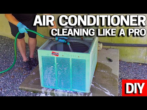 Central Air Conditioner Condenser Cleaning - How To - Make it COLD again!