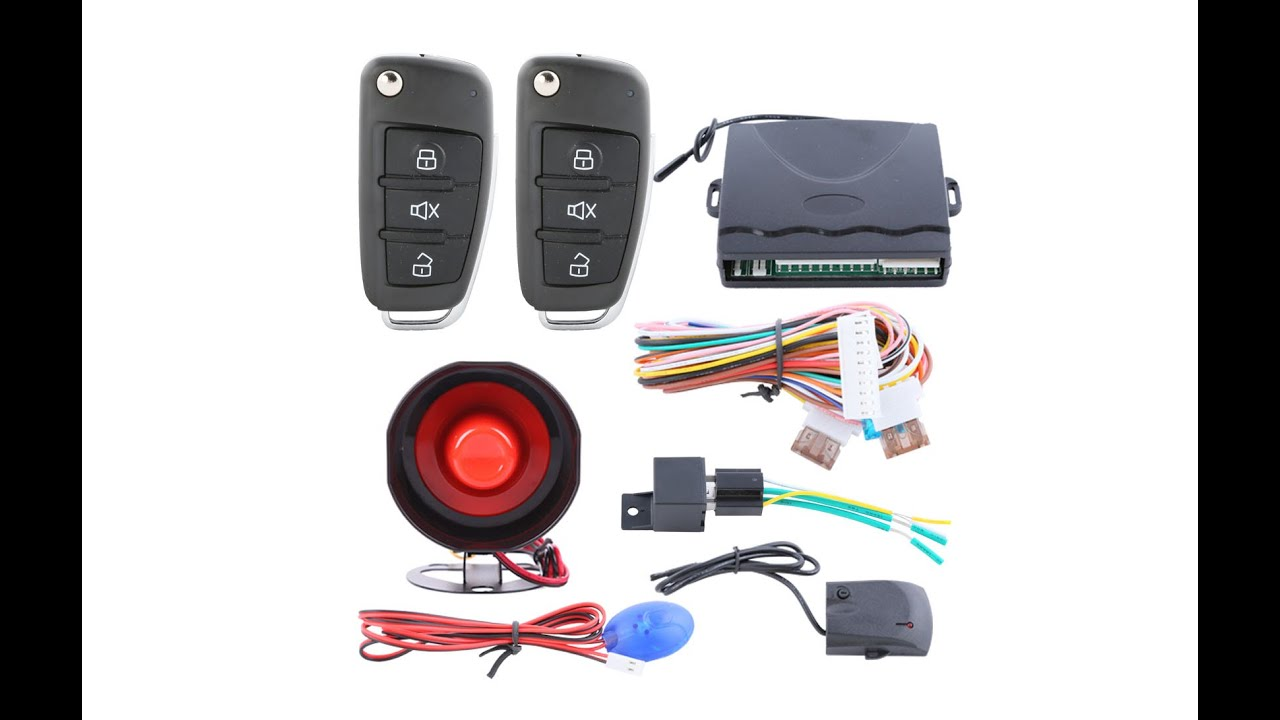 hight resolution of remote control central door locking conversion keyless entry system kit unboxing