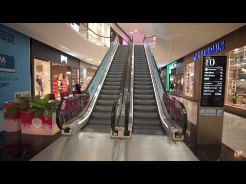 Sweden, Stockholm, Mall of Scandinavia, 31X escalator ride