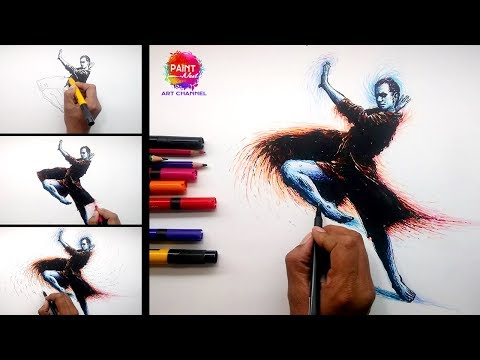 Modern Abstract Art I Speed Drawing I  Art online