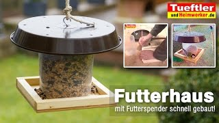 Feeding house with feeders built fast (German)