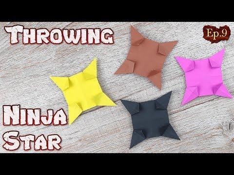 Ninja Star Origami   How To Making a Ninja Weapons Paper Tutorials   DIY Paper Blade Shuriken Ep.9