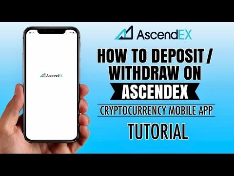 How to DEPOSIT or WITHDRAW on Bitmax.io (AscendEx) | Mobile Crypto Exchange App | Tutorial
