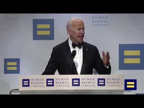 Joe Biden and Jill Biden Speak at the 2018 HRC National Dinner