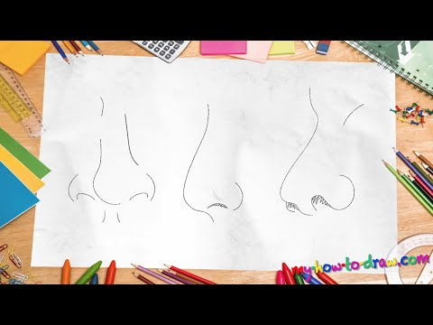 How to draw a nose - Easy step-by-step drawing lessons for kids